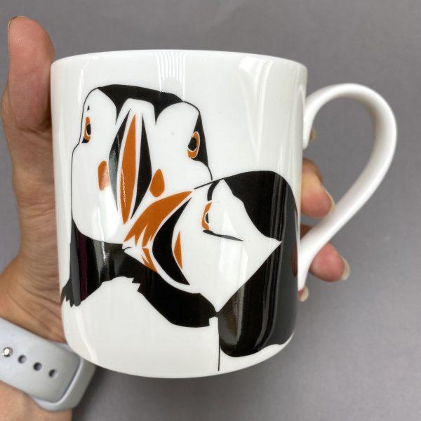Puffin nuzzle mug