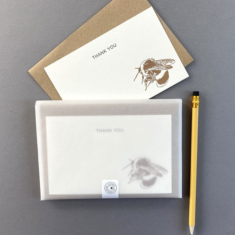 Bee thank you correspondence
