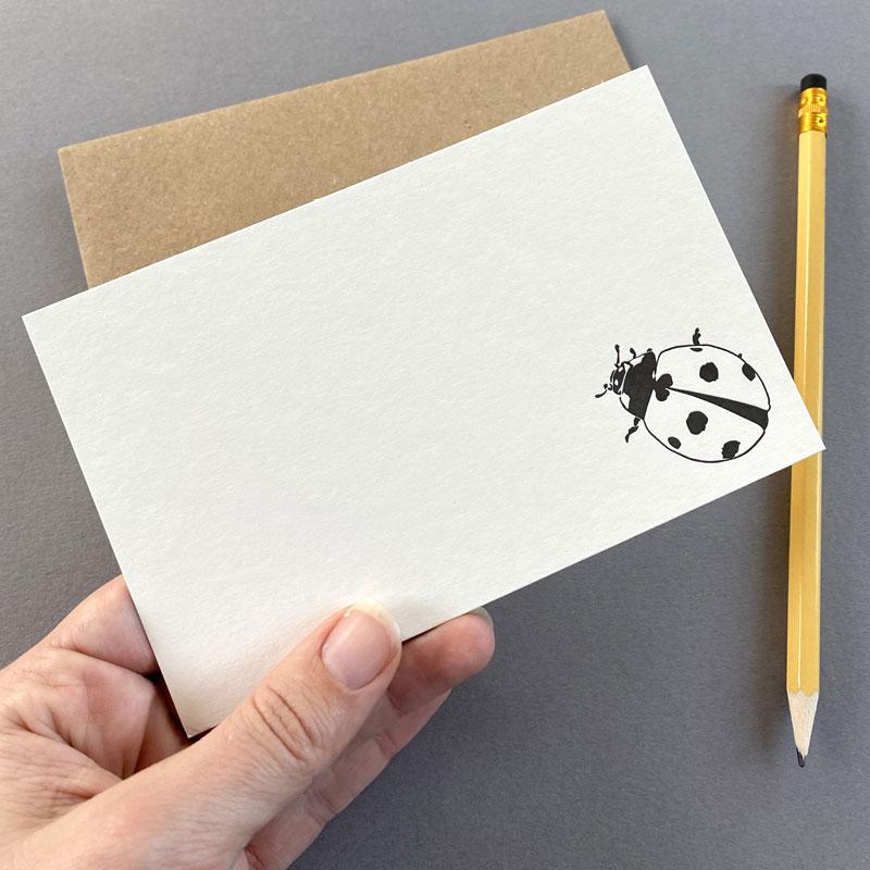 LAdybird Blank Correspondence card